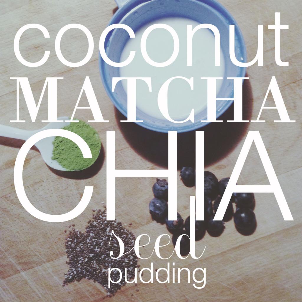 coconut matcha chia seed pudding