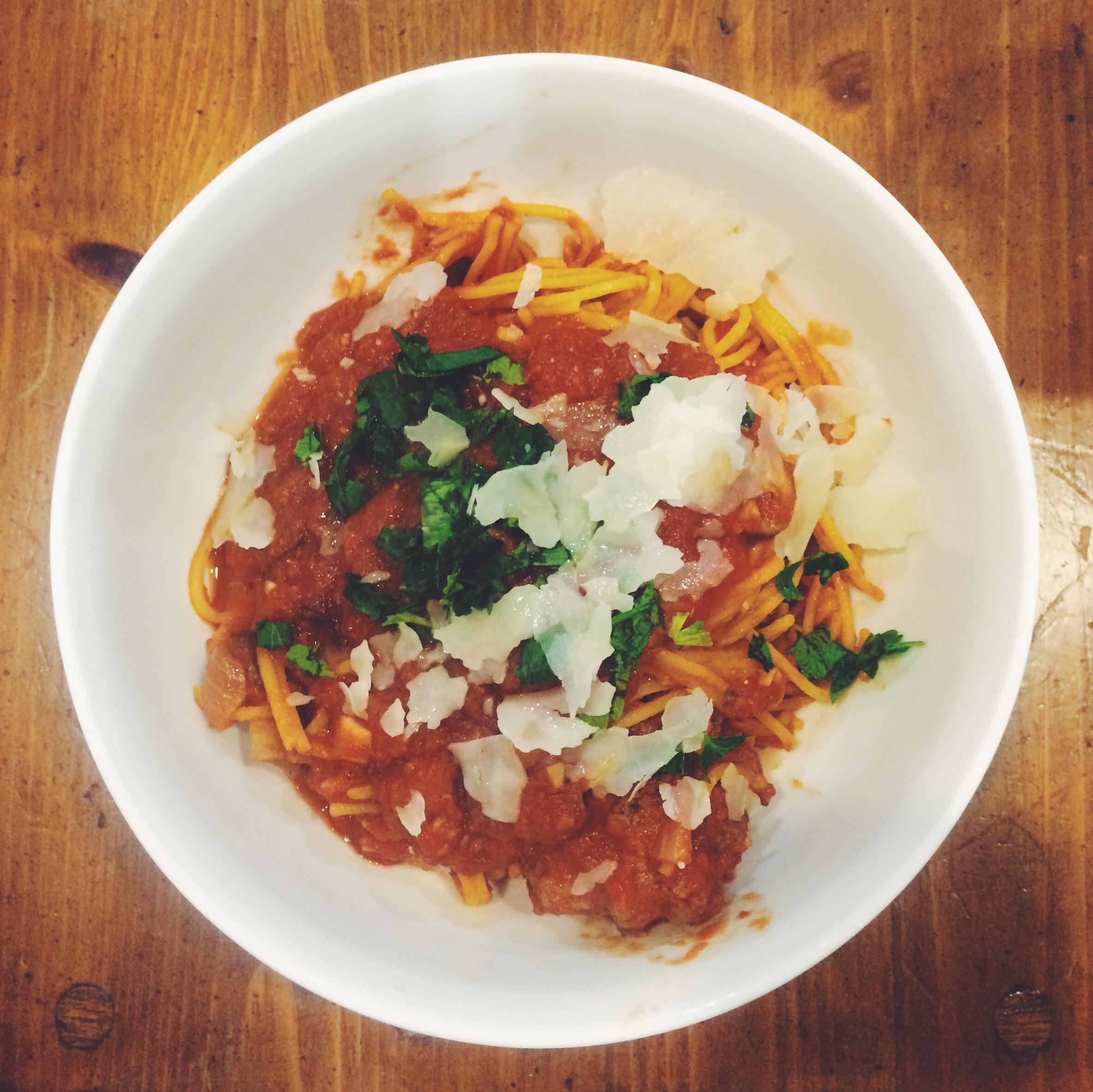 Gluten-free Spaghetti & Meatballs