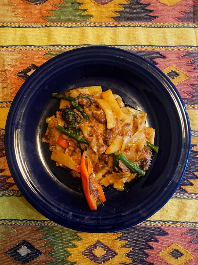 Massaman Curry Noodles with Caramelized Pork Shoulder